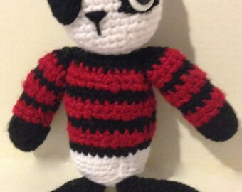 STUFFED PIRATE PANDA    crochet pirate panda bear stuffed doll
