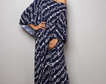 Maxi Dress - Comfy Navy Blue Dress : Funky Elegant Collection No.3