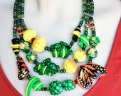 Garden Creatures Necklace/Rainforest Inspired