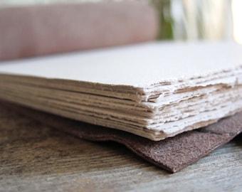 Repurposed Brown Leather Sketchbook