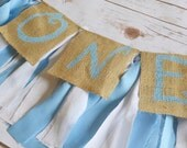 Boy ONE birthday banner - blue and white birthday banner - Winter Onederland party - boy 1st birthday party - ONE birthday decor - boy party