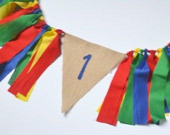 Boy 1st Birthday Banner - Lego Theme Party - 1st birthday banner - Sesame Street Party - circus 1st Birthday - carnival party - UNO Birthday