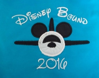 Disney Bound Airplane Short Sleeve Appliqued Tshirt - Infant and Toddler Size Tshirt - 6 months to 5/6