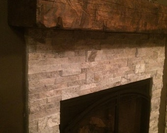 fireplace mantel beam. Mantel  Barn Beam Wooden 8 x 10 wood mantel Etsy