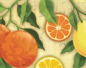 Citrus Grove - Beige Citrus Grove All Over by Steve Haskamp from SPX Fabrics