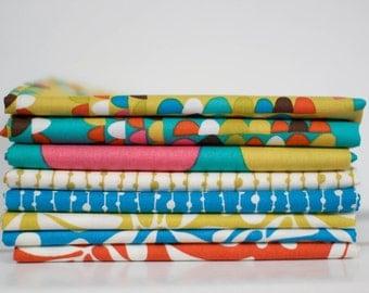 A Nod to Mod Fabric Bundle -  Half Yard Bundle - 8 half yard pieces (B366)