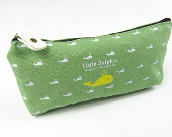 Dolphin Pocket pouch Miniblings pencil case make-up pencil case school Green
