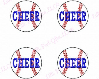 Feltie - Baseball - CHEER - Machine Embroidery Design - 2 sizes - 1,2,4,6 Count