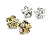 May Flower Studs - Silver or Gold Glitter - Laser Cut Flower Earrings - Each To Own Original