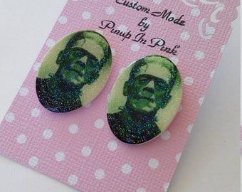 The Monster Earrings (Frankenstein)