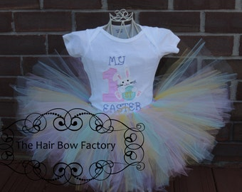 The Hair Bow Factory My First Easter Bunny Tutu Outfit Size 0-3 months to 24 months