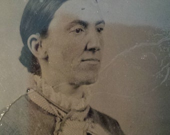 Original Tintype Victorian School Teacher Photograph