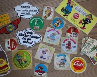 Old Vintage Danish Stickers.