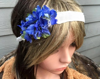 tie back floral headband,toddler accessories,hair accessories