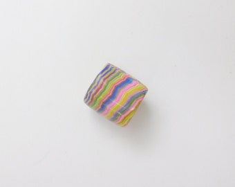 Dread Bead with 11 mm bead hole, polymer clay bead