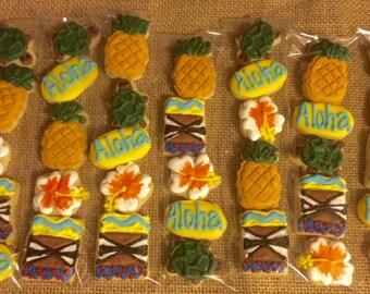 Luau Hawaiian Themed Cookie Sleeves