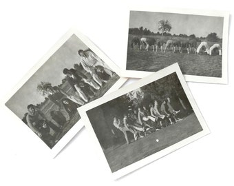 Vintage Photos 1940s Silly People Having Fun Funny People Being Goofy Group of Black & White Photographs Lot of Photos