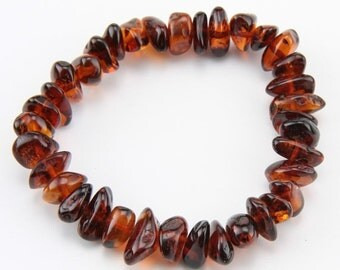 Baltic Amber Teething Anklet/Bracelet - Honey color - Made in Canada