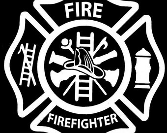 Firefighter  Vinyl Decal - Firefighter Decal - Fire Fighter - Fire Rescue - Truck Decal