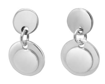 Cherish Sterling Silver Double Circle Earrings