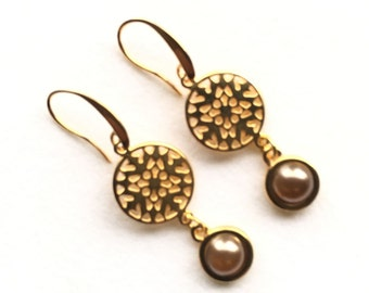 Ohrhänger,Ohrringe,earrings,wedding earrings,bronze
