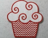 Birthday Cupcake - MADE to ORDER - Choose COLOR and Size - Tutu & Shirt Supplies - fabric Iron on Applique Patch z 7442