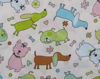 C752 - 160cmx100cm Cotton Twill  Fabric - Cartoon - Animal - Dog