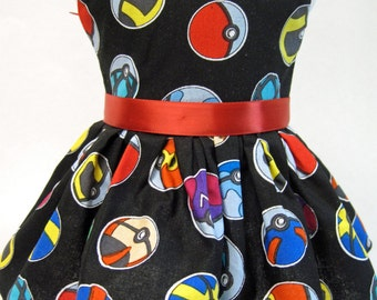 Pokemon Balls Sleeveless Dress made for your American Girl Doll