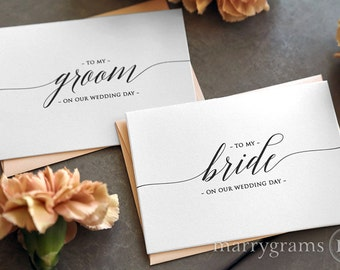 Wedding Card to Your Bride or Groom on Your (Our) Wedding Day - Love Note to Future Husband or Wife Card Keepsake Love Note Before I Do CS13