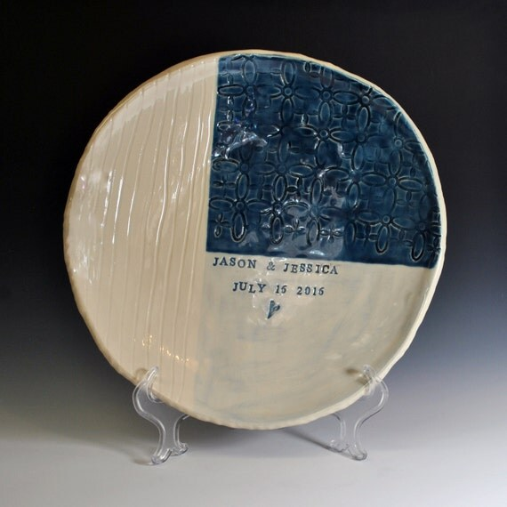 personalized wedding platter handmade ceramic serving dish