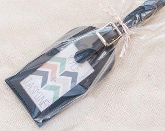 Wedding Favors - Modern Geometric Leather Luggage Tags