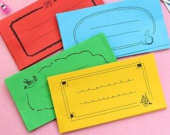 Retro Envelope Set 02 - 4 Sheets in Different Designs