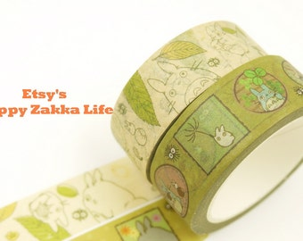 Miyazaki Hayao Series - Ver. 5 & 6 - My Neighbor Totoro - Japanese Washi Masking Tape - 11 yards - 2 rolls