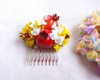 Pomegranate Fruit Hair Comb