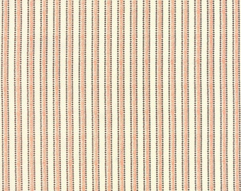 Orange and Ivory Striped Halloween Fabric - Spooky Delights by Bunny Hill Designs from Moda - 1/2 Yard