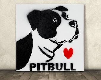 Pitbull Wall Art pitbull wall art | etsy