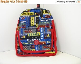On Sale Fireman Heroes PreSchool Backpack