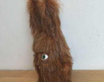 Teddy Bear with teeth - Rabbit - Decorative Doll - Handmade and OOAK - Uncanny Creature /Ready to ship/ Quirky Uncanny Scary Creepy Cute