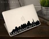 San Francisco Skyline Macbook Decal 3 | Macbook Sticker | Laptop Decal | Laptop Sticker | Car Sticker