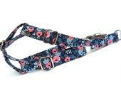 Rosa Flora Navy Dog Step in Harness