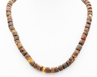 Baltic Amber Necklace Natural Raw for Men