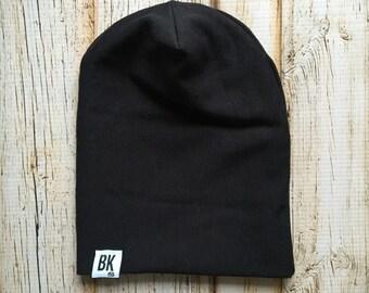 Black Slouch Beanie/ Baby Beanie/ Hipster Beanie/ Slouchy beanie/ Slouchy Hat/ Hipster Baby/ Baby Slouch Beanie /Baby Hat/ Beanie/ Toque