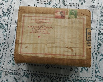 Postage Stamp Catalog Vintage 1932 In Original Box With Postage Stamps Collectible