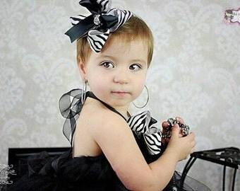 Zebra print hairbow, hairbow, hair bow, hair bows, zebra print, zebra, animal print, bow, boutique bow