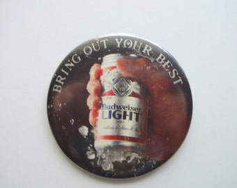Vintage Budweiser Button Pin 1980s