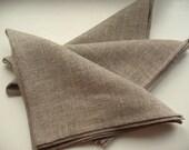 "Linen Napkins Cloth Napkins Wedding Napkins Napkin Ring Holders Gray Linen Napkins Gray Napkins Prewashed Linen - set of 50 size 18"" x 18"""