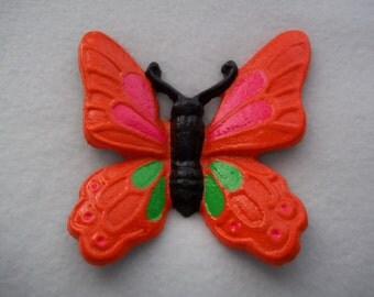 Cast Iron Butterfly / Monarch Butterfly /  Home Decor Blacklight / Orange / Pink / Green