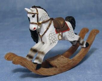 Dolls House Miniature Rocking Horse