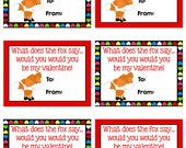 Personalized What Does The Fox Say Valentines Cards Print Your Own