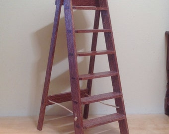 12th scale step ladder by McQueenie Miniatures